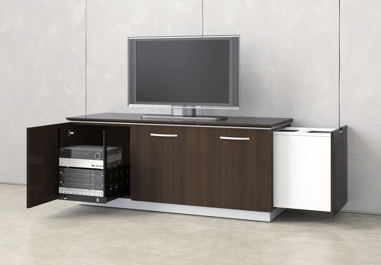 Credenza De Madera Moderna : Mueble multimedia moderno modulable para sala de conferencias