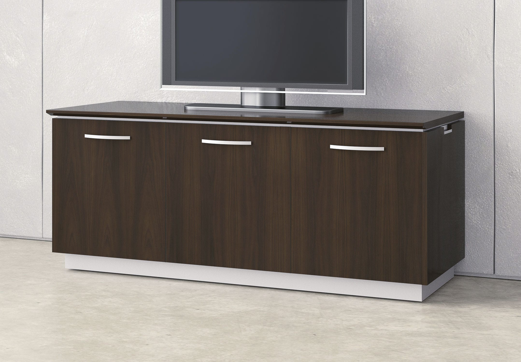 mueble multimedia moderno modulable para sala de de madera lacada performance nucraft