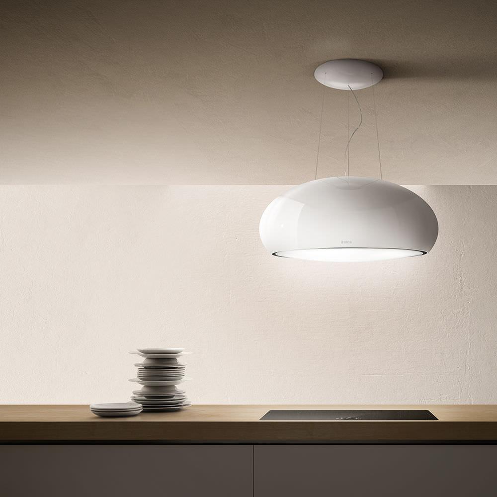 40aa22ad79456 campana extractora de isla   con iluminación integrada   de diseño original  - SEASHELL by Fabrizio Crisà