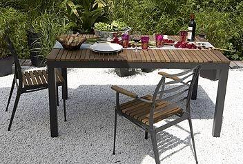 Emejing Table De Jardin Metal Bois Photos - Amazing House Design ...