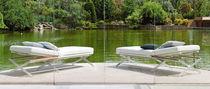Tumbona moderna / de cuero / de jardín / plegable