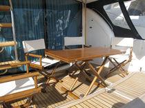 Mesa moderna / de teca / rectangular / de jardín