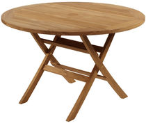 Mesa clásica / de madera / redonda / de jardín