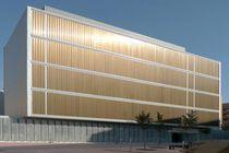 Celosía con lamas de aluminio / para fachada / con lamas orientables / vertical