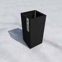 Cubo de basura público / de metal / moderno