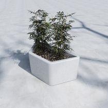 Jardinera de hormigón / moderna / para espacio público