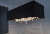 Lámpara araña moderna / de roble / de cristal / halógena
