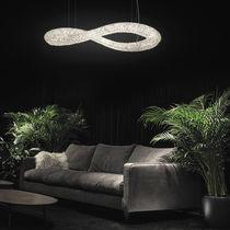 Lámpara araña moderna / de cristal / LED
