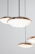 Lámpara suspendida / moderna / de latón / de cristal