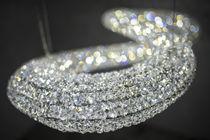 Lámpara araña moderna / de cristal / de acero inoxidable pulido / LED