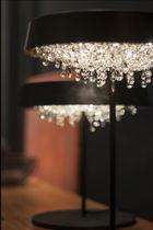 Lámpara de mesa / moderna / de cristal / de interior