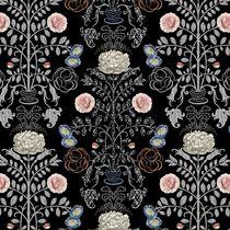 Tela de tapicería / para cortinas / de flores / de poliéster