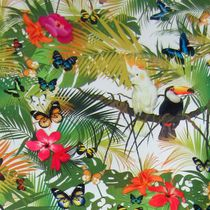 Tela de tapicería / con motivos de la naturaleza / con motivos animales / de flores