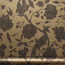 Papeles pintados modernos / de flores / lavables / marrones