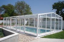 Cubierta para piscina alta / telescópica / de policarbonato / de metal