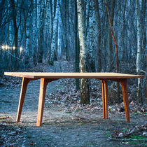 Mesa moderna / de madera / rectangular / plegable