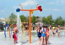 Ducha de polímero / vertical / para parque acuático / para niños