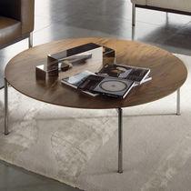 Mesa de centro / moderna / de madera / cara de cristal