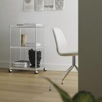 Carrito de servicio / de aluminio / de vidrio / para uso residencial