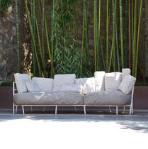 Sofá moderno / de jardín / de tejido acrílico / de acero