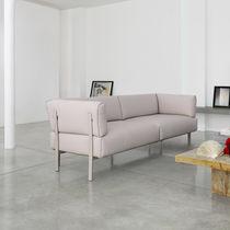 Sofá moderno / de tejido / de cuero / de aluminio