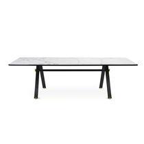 Mesa moderna / de aluminio anodizado / de mármol / rectangular