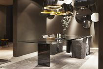 Mesa de reuniones moderna / de madera / de vidrio / rectangular