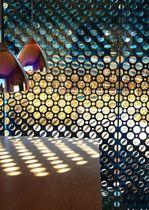 Muro cortina de panel / de metal / decorativo / perforado
