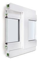 Ventana corredera / de PVC / con vidrio doble