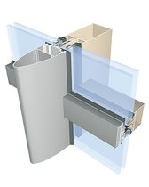 Muro cortina estructura autoportante / de aluminio y vidrio