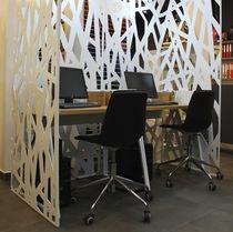Biombo moderno / de metal / para oficina abierta / para oficina