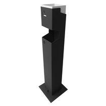 Cenicero pie bancada / de aluminio / para exterior / para espacio público