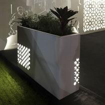Jardinera de metal / rectangular / con luz / moderna