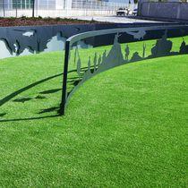 Panel decorativo de metal / para exteriores / de alta resistencia / mate