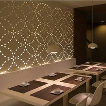 Panel decorativo de aluminio / para interiores / para tabique / con retroiluminación