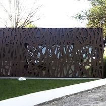 Revestimiento de fachada de metal / termolacado / texturado / ondulado