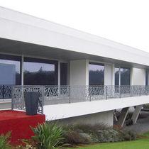 Barandilla de metal / con paneles / de exterior / para terraza