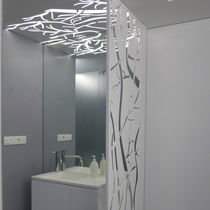 Bloque de celosía de aluminio / de interior / a medida