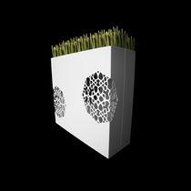 Jardinera de aluminio / rectangular / a medida / con luz