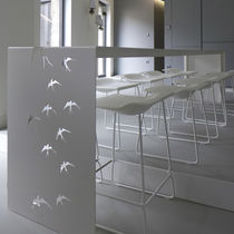 Mesa de comedor de diseño original / de aluminio / rectangular / de exterior