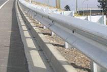 Barrera de seguridad de acero galvanizado / para calle