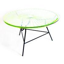 Mesa de centro moderna / de vidrio / de acero / de plástico