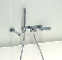 Grifo monomando para bañera / encastrable / de metal cromado / de latón
