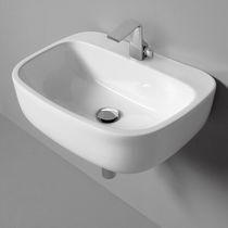 Lavabo suspendido / otras formas / de cerámica / moderno