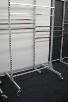 Expositor multiusos / de metal / con ruedas / para comercio