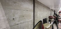 Panel decorativo de hormigón / de pared / texturado / aspecto madera
