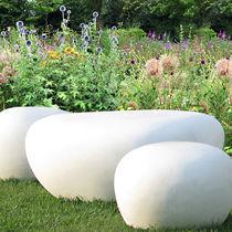 Banco de jardín / de diseño original / de hormigón reforzado con fibra