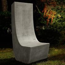 Silla de jardín moderna / de cemento