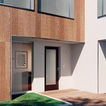 Puerta de entrada / abatible / de madera / de vidrio