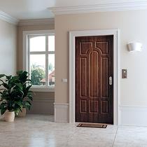 Puerta de entrada / abatible / de acero / de seguridad